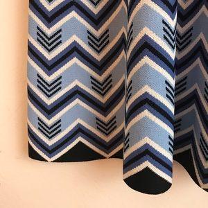 Eliza J Dresses - Eliza J Geometric Pattern Knit Swing Dress